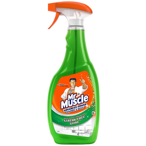 Mr Muscle Window & Glass Cleaner, Advanced Power Cleaning Spray for Streak Free
