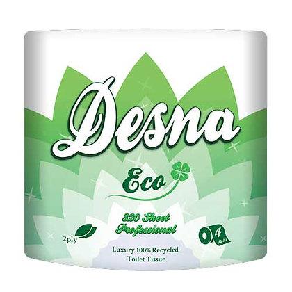 Desna Eco 320 Sheet Toilet Rolls – 2ply White