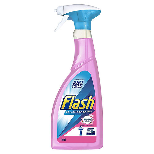 Flash Multi Purpose Spray Blossoms and Breeze for Hard Surfaces, 730 ml