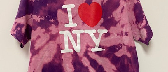Vintage Tie Dye I Love New York Shirt-XL