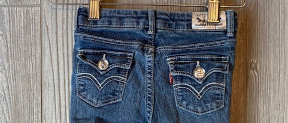 Vintage Kids Levis Cut Off Shorts Size 4T