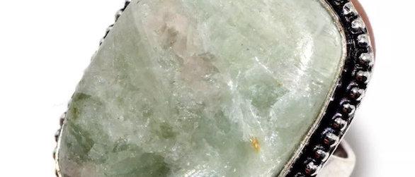 Aqua Seraphinite Ring Size 8