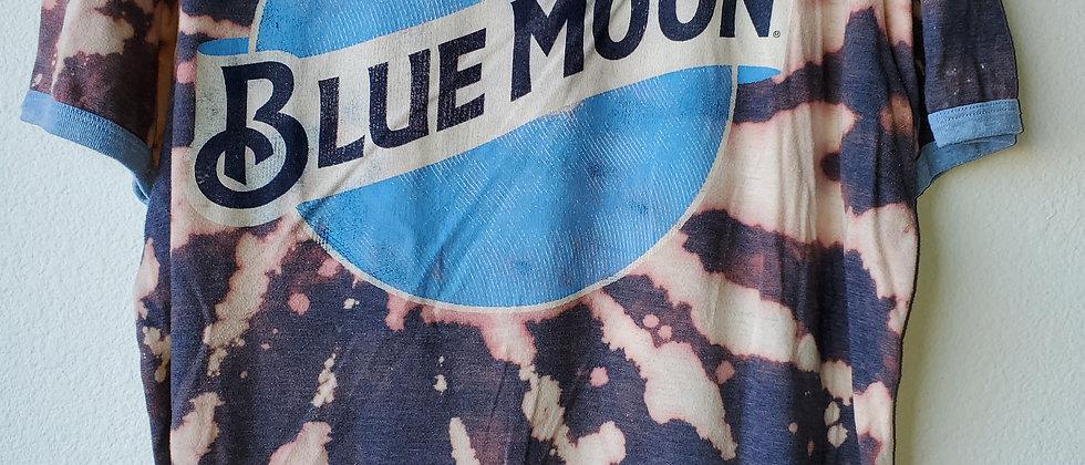 Vintage Tie Dye BLUE MOON Shirt-2XL