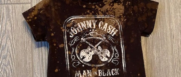 Hipster Johnny Cash Infant/Toddler Acid Splashed T-Shirt