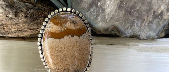 Picture Jasper Ring Size 9