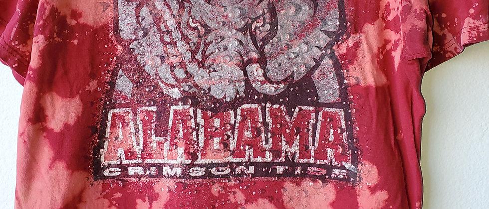 Vintage Tie Dye ALABAMA CRIMSON TIDE Shirt-Large