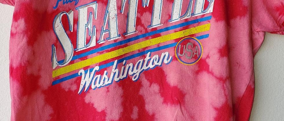 Vintage Tie Dye SEATTLE Shirt-Medium
