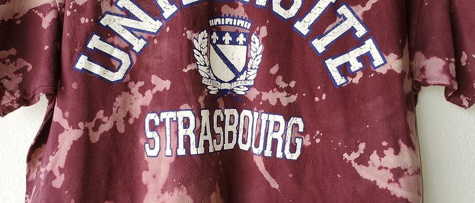 Vintage Tie Dye UNIVERSITE STRASBOURG Shirt-Large