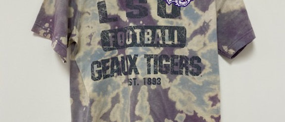 Vintage Tie Dye LSU Football Shirt-Small