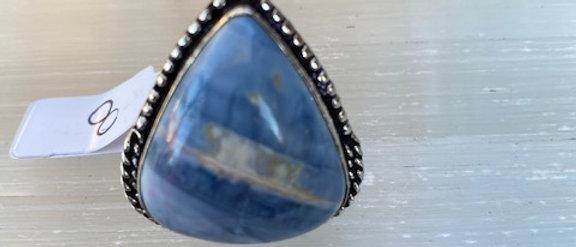 Owyhee Blue Opal Ring Size 8