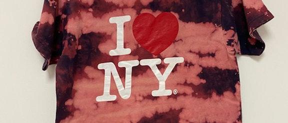 Vintage Tie Dye I LOVE NEW YORK Shirt-Small