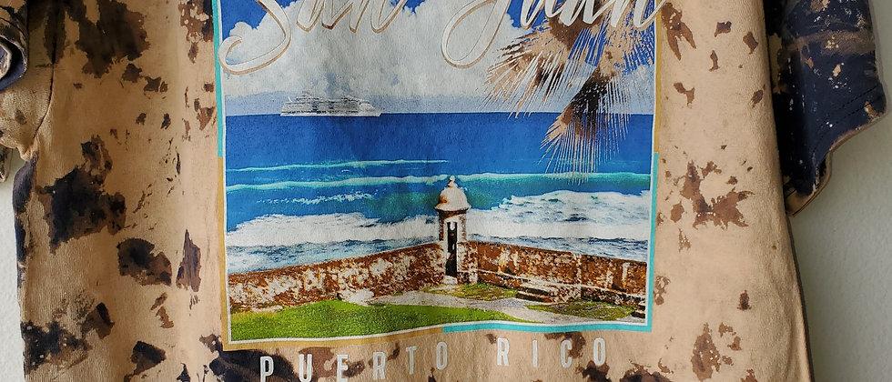 Vintage Tie Dye SAN JUAN, PUERTO RICO Shirt-Large