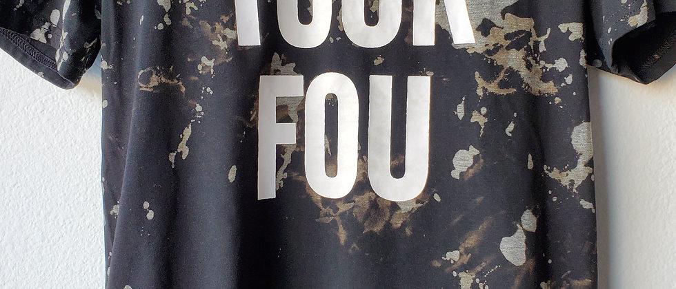 Vintage Tie Dye YUCK FOU Shirt-Medium