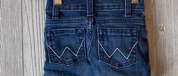 Vintage Kids Wrangler Cut Off Shorts Size 12 Months
