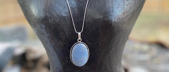 Angelite Pendant Necklace