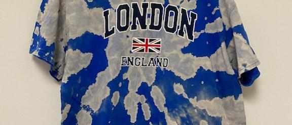 Vintage Tie Dye London Time Shirt-XL