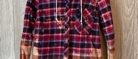 Adult Flannel with hood X-Small