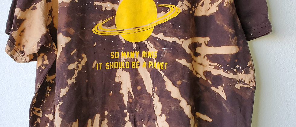 Vintage Tie Dye PITTSBURGH RINGS Shirt-2XL