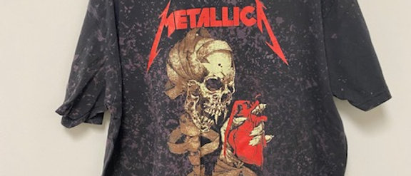 Metallica Acid Splashed Tee Shirt