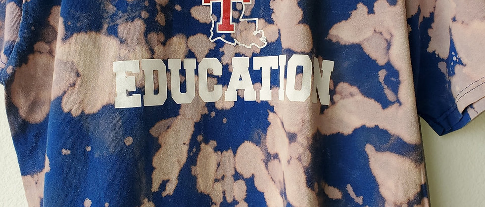 Vintage Tie Dye LA TECH EDUCATION Shirt-Large