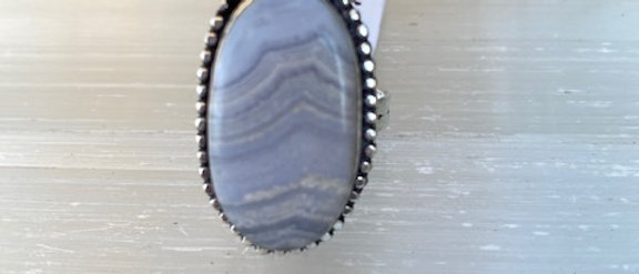 Crazy Lace Agate Ring Size 8.5