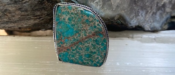 Sea Sediment Jasper Ring Size 8