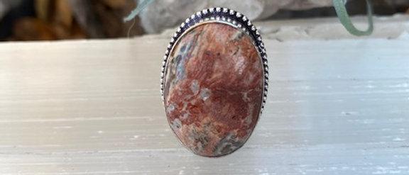 Snakeskin Jasper Ring Size 7.5
