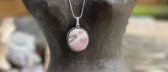 Porcelain Jasper Pendant Necklace