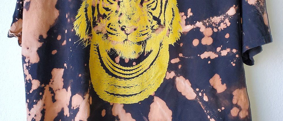 Vintage Tie Dye TIGER Shirt- 2XL