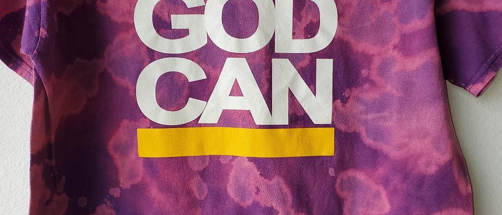 Vintage Tie Dye GOD CAN Shirt-Large