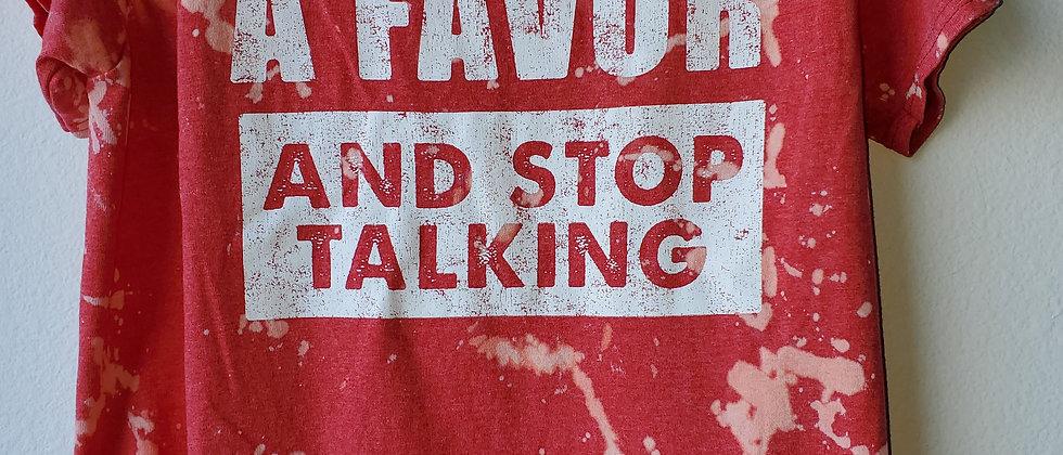 Vintage Tie Dye DO ME A FAVOR Shirt-Large