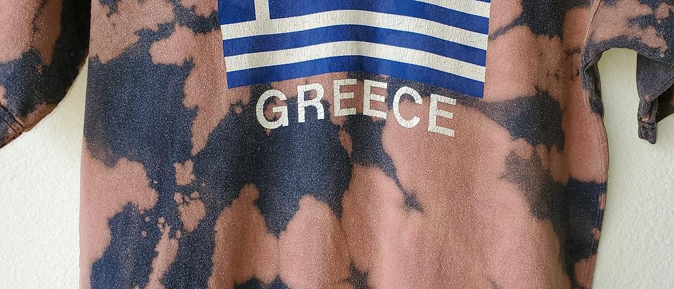 Vintage Tie Dye GREECE Shirt-Small
