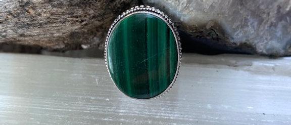 Malachite Ring Size 9