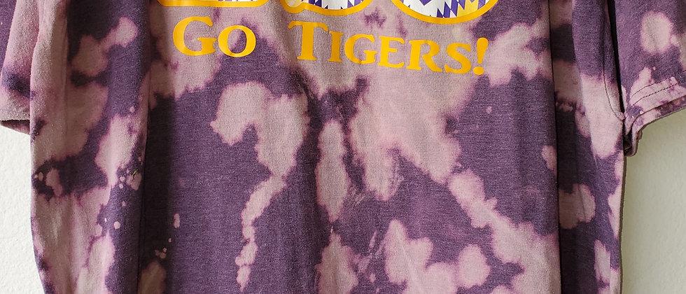Vintage Tie Dye LSU Shirt-2XL