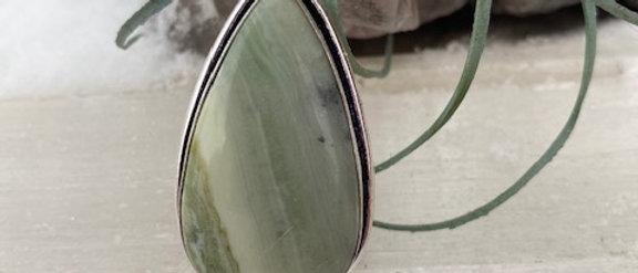 Larsonite Jasper Ring Size 7.5
