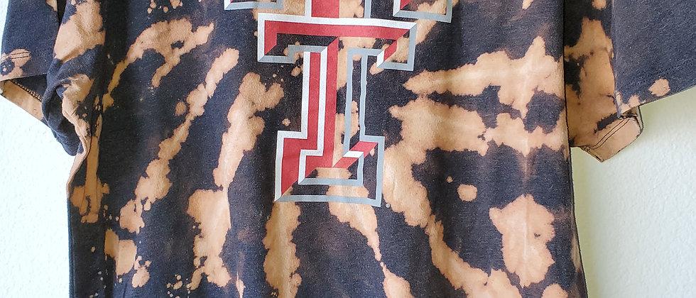 Vintage Tie Dye TEXAS TECH Shirt-Large