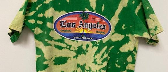 Vintage Tie Dye LOS ANGELES Shirt-Large