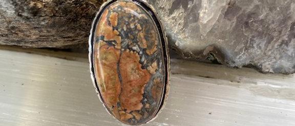 Maligano Jasper Ring Size 7.5