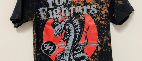 Foo Fighters Snake Acid Splashed Tee Shirt