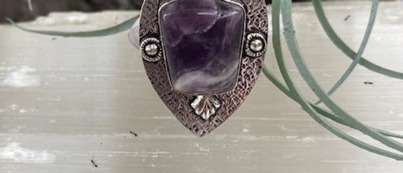 Amethyst Lace Ring Size 9.5