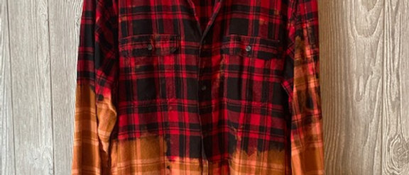 Classic Red Plaid Acid Washed Flannel