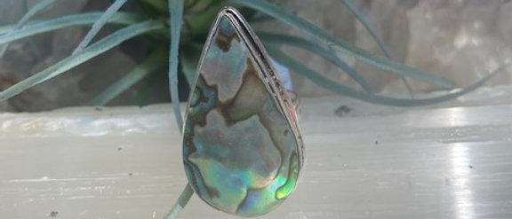 Abalone Shell Ring Size 8