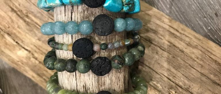 Bundle of 5 Difusser Bracelets