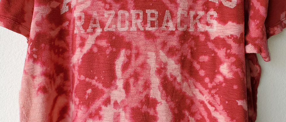 Vintage Tie Dye ARKANSAS RAZORBACKS Shirt-Large
