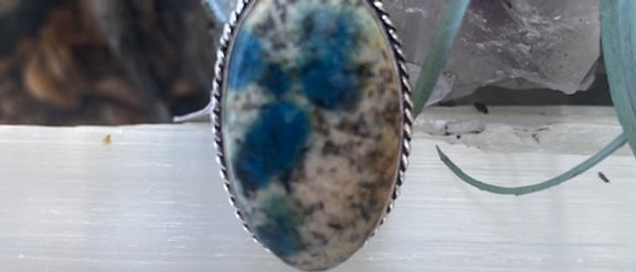 Blue Azurite Ring Size 7