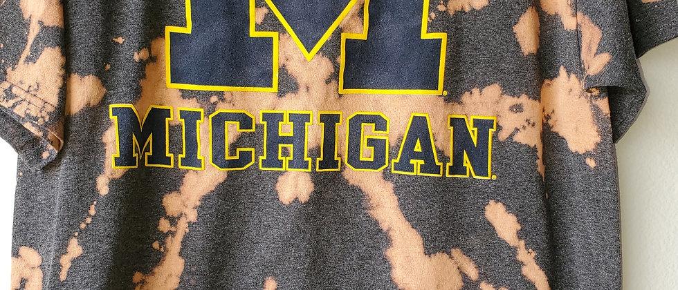 Vintage Tie Dye MICHIGAN Shirt-Large