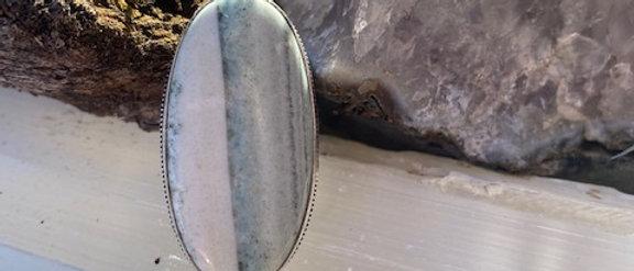Green Scheelite Ring Size 7
