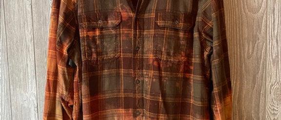 Autumn Plaid Acid Washed Flannel