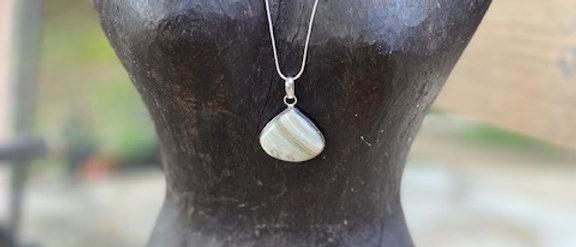 Green Scheelite Pendant Necklace