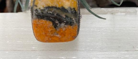 Bumble Bee Jasper Ring Size 7
